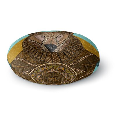 Art Love Passion Bear in Grass Round Floor Pillow Size: 26 x 26