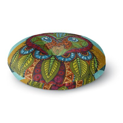 Art Love Passion Owl Round Floor Pillow Size: 26 x 26