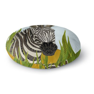 Art Love Passion Zebra Round Floor Pillow Size: 26 x 26