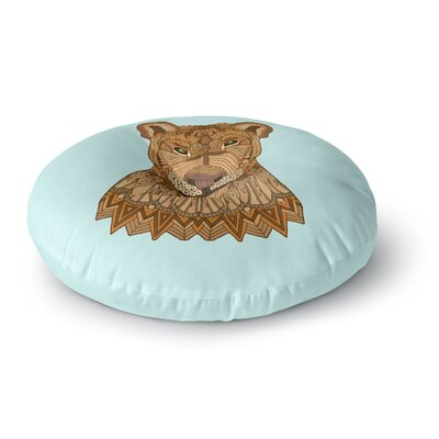 Art Love Passion Lioness Round Floor Pillow Size: 23 x 23
