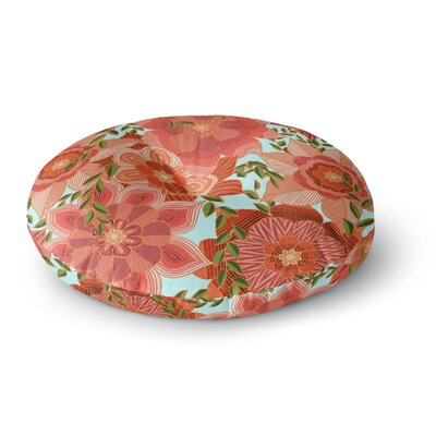 Art Love Passion Flower Power Floral Round Floor Pillow Size: 23 x 23