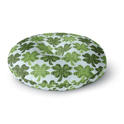 Art Love Passion Lucky You Shamrock Round Floor Pillow Size: 23 x 23