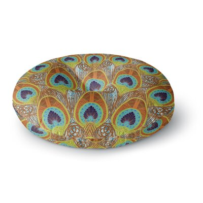 Art Love Passion Peacock Pattern Round Floor Pillow Size: 23 x 23