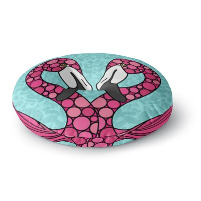 Art Love Passion Flamingos Magenta Round Floor Pillow Size: 23 x 23