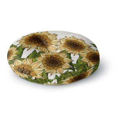 Art Love Passion Sunflower Field Round Floor Pillow Size: 26 x 26