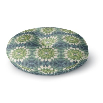 Art Love Passion Forest Leaves Pattern Geometric Round Floor Pillow Size: 23 x 23