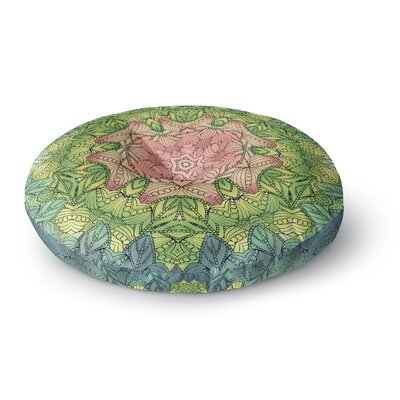Art Love Passion Celtic Flower Round Floor Pillow Size: 26 x 26