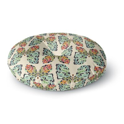 Art Love Passion Butterfly Pattern Round Floor Pillow Size: 23 x 23