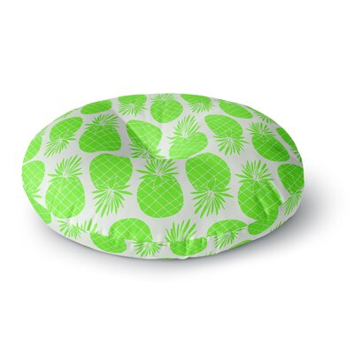 Anchobee Pinya Pattern Round Floor Pillow Size: 23 x 23, Color: Green