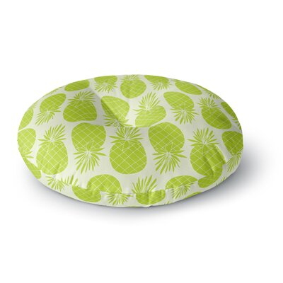 Anchobee Pinya Pattern Round Floor Pillow Size: 26 x 26, Color: Lime