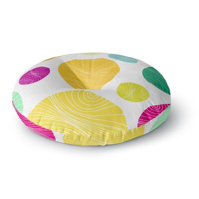 Anchobee Eolo Circles Round Floor Pillow Size: 23 x 23