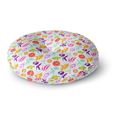 Anchobee Iris Pattern Round Floor Pillow Size: 23 x 23