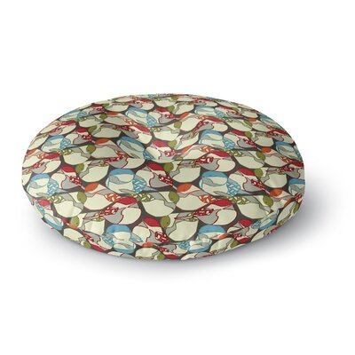 Amy Reber Chickadees Round Floor Pillow Size: 26 x 26