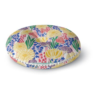 Amy Reber Pretty Bouquet Floral Round Floor Pillow Size: 23 x 23