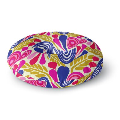 Amy Reber Abstract Bouquet Round Floor Pillow Size: 23 x 23