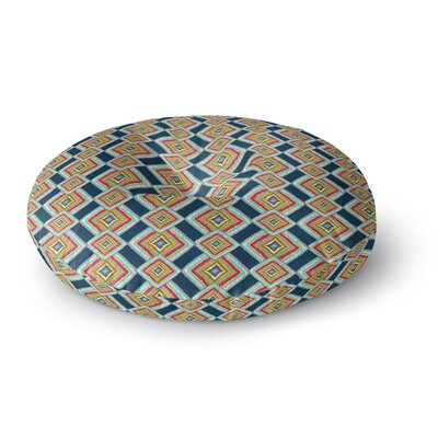Amy Reber Rainbow Ikat Abstract Round Floor Pillow Size: 23 x 23
