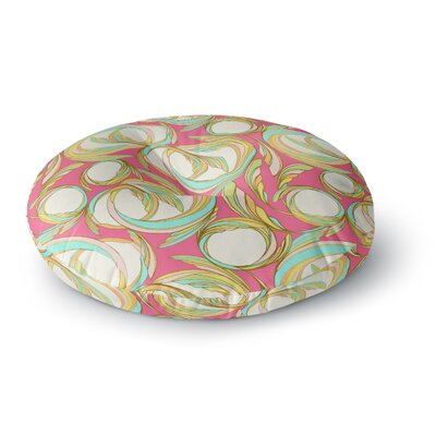 Amy Reber Cirle Sings Round Floor Pillow Size: 26 x 26
