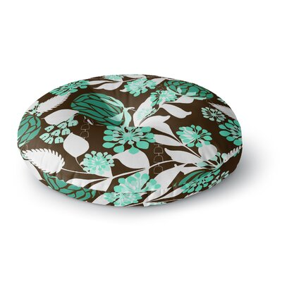 Amy Reber Bold Relief Round Floor Pillow Size: 23 x 23