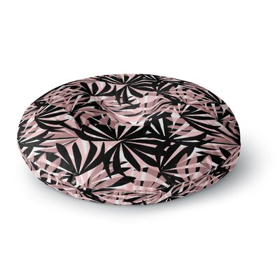 Amy Reber Palms Leaves Pattern Round Floor Pillow Size: 23 x 23