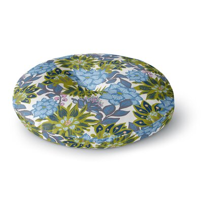Amy Reber Dahlias Floral Round Floor Pillow Size: 23 x 23