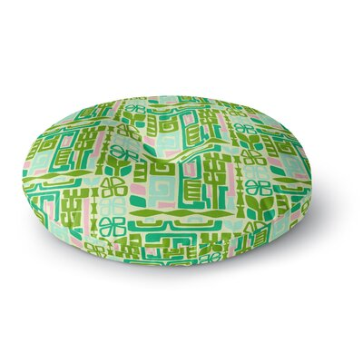Amy Reber Maze Vector Round Floor Pillow Size: 26 x 26