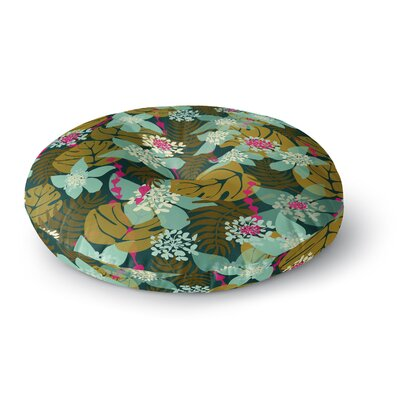Amy Reber Tropical Tropical Floral Round Floor Pillow Size: 26 x 26