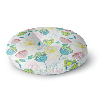 Anneline Sophia Indie Floral Round Floor Pillow Size: 23 x 23