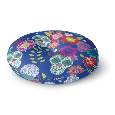 Anneline Sophia Day of The Dead Aztec Round Floor Pillow Size: 26 x 26