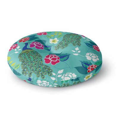 Anneline Sophia Mexican Peacock Rainbow Round Floor Pillow Size: 26 x 26