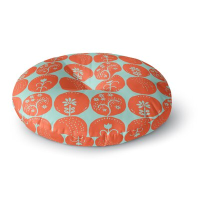 Anneline Sophia Dotty Papercut Circles Round Floor Pillow Size: 26 x 26, Color: Orange