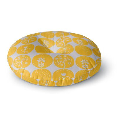Anneline Sophia Dotty Papercut Circles Round Floor Pillow Size: 23 x 23, Color: Yellow