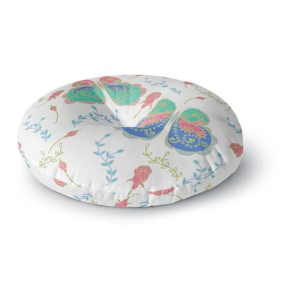 Anneline Sophia Dotty Papercut Circles Round Floor Pillow Size: 23 x 23, Color: Pink