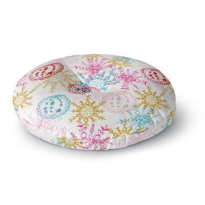 Anneline Sophia Let It Snow Round Floor Pillow Size: 26 x 26