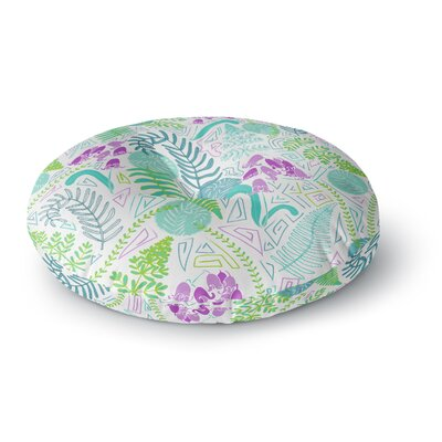 Anneline Sophia Fern Forest Round Floor Pillow Size: 23 x 23