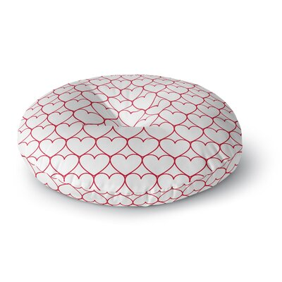 Anneline Sophia Soulmates Love Round Floor Pillow Size: 26 x 26