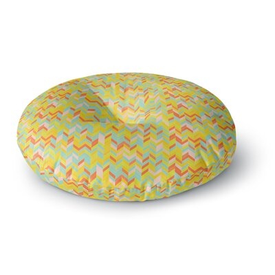 Allison Soupcoff Chevron Pop Round Floor Pillow Size: 26 x 26