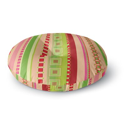 Allison Soupcoff Festive Stripes Round Floor Pillow Size: 23 x 23
