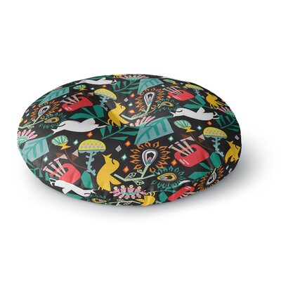 Agnes Schugardt Folk Fusion Round Floor Pillow Size: 23 x 23