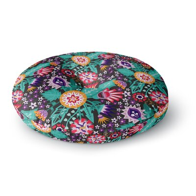 Agnes Schugardt Folk Meadow Round Floor Pillow Size: 26 x 26