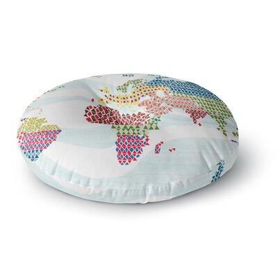 Agnes Schugardt Geo Map Round Floor Pillow Size: 23 x 23