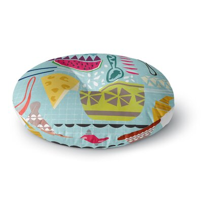 Agnes Schugardt Dinner Out Round Floor Pillow Size: 26 x 26