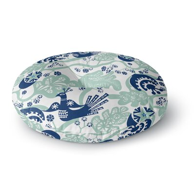 Agnes Schugardt Folk Birds Round Floor Pillow Size: 26 x 26