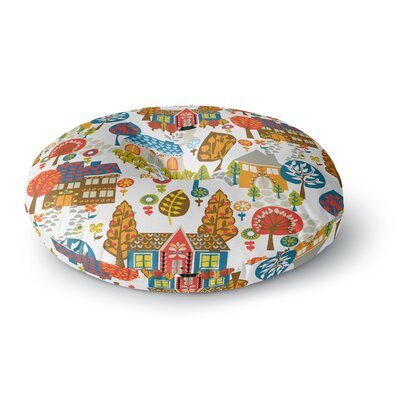 Agnes Schugardt In the Village Round Floor Pillow Size: 26 x 26