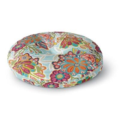 Agnes Schugardt Kimono Floral Round Floor Pillow Size: 26 x 26