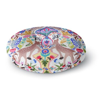Agnes Schugardt Symmetric Folk Round Floor Pillow Size: 26 x 26