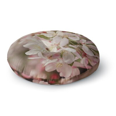 Angie Turner Apple Blossoms Flower Round Floor Pillow Size: 23 x 23