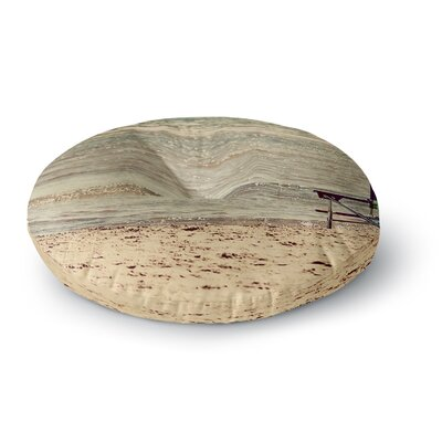 Angie Turner Beach Chair Sandy Beach Round Floor Pillow Size: 26 x 26