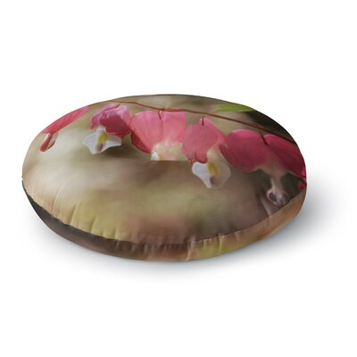 Angie Turner Bleeding Hearts Flower Round Floor Pillow Size: 23 x 23