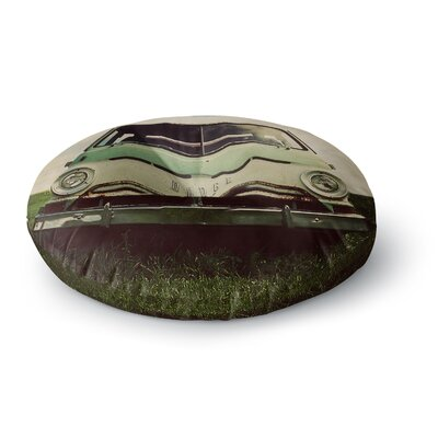 Angie Turner Dodge Car Round Floor Pillow Size: 26 x 26