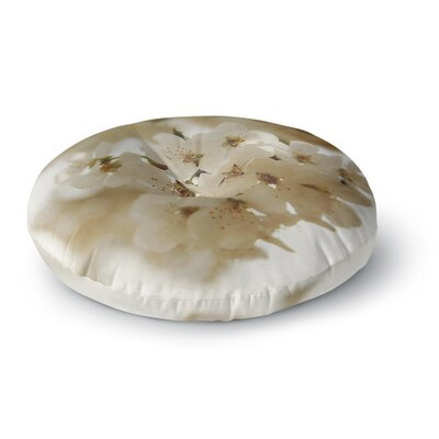 Angie Turner Flowering Pear Petals Round Floor Pillow Size: 23 x 23
